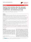 "Báo cáo y học: ""Daytime food restriction alters liver glycogen, triacylglycerols, and cell size. A histochemical, morphometric, and ultrastructural study"""