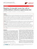 "Báo cáo y học: ""Response of sinusoidal mouse liver cells to choline-deficient ethionine-supplemented diet"""