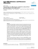 "Báo cáo y học: ""Generalized cost-effectiveness analysis for national-level priority-setting in the health sector"""