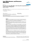 """Báo cáo y học: """"Free does not mean affordable: maternity patient expenditures in a public hospital in Bangladesh"""""""