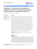 "Báo cáo y học: "" Challenges in implementing individualized medicine illustrated by antimetabolite therapy of childhood acute lymphoblastic leukemia"""