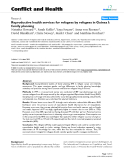 """Báo cáo y học: """"Reproductive health services for refugees by refugees in Guinea I: family planning"""""""