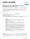 """Báo cáo y học: """"Malaria control in Timor-Leste during a period of political instability: what lessons can be learned"""""""