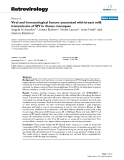 "Báo cáo y học: "" Viral and immunological factors associated with breast milk transmission of SIV in rhesus macaques"""