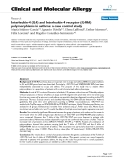 "Báo cáo y học: ""Interleukin-4 (IL4) and Interleukin-4 receptor (IL4RA) polymorphisms in asthma: a case control study"""