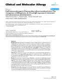 "Báo cáo y học: ""CpG Immunotherapy in Chenopodium album sensitized mice: The comparison of IFN-gamma, IL-10 and IgE responses in intranasal and subcutaneous administrations"""