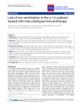 "Báo cáo y học: ""Lack of neo-sensitization to Pen a 1 in patients treated with mite sublingual immunotherapy"""