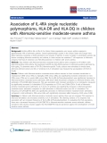 "Báo cáo y học: ""Association of IL-4RA single nucleotide polymorphisms, HLA-DR and HLA-DQ in children with Alternaria-sensitive moderate-severe asthm"""
