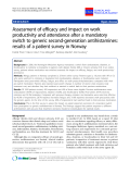 "Báo cáo y học: ""Assessment of efficacy and impact on work productivity and attendance after a mandatory switch to generic second-generation antihistamines: results of a patient survey in Norway"""