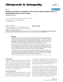 """Báo cáo y học: """"Psychosocial factors and their role in chronic pain: A brief review of development and current stat"""""""
