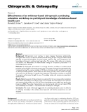"""Báo cáo y học: """"Effectiveness of an evidence-based chiropractic continuing education workshop on participant knowledge of evidence-based health care"""""""