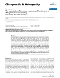 "Báo cáo y học: ""The organisation of the stress response, and its relevance to chiropractors: a commentary"""
