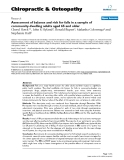 "Báo cáo y học: ""Assessment of balance and risk for falls in a sample of community-dwelling adults aged 65 and older"""
