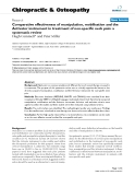 "Báo cáo y học: ""Comparative effectiveness of manipulation, mobilisation and the Activator instrument in treatment of non-specific neck pain: a systematic review"""