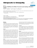"""Báo cáo y học: """"On the reliability and validity of manual muscle testing: a literature review"""""""