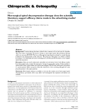 "Báo cáo y học: "" Non-surgical spinal decompression therapy: does the scientific literature support efficacy claims made in the advertising media"""