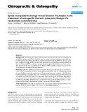 "Báo cáo y học: ""Spinal manipulative therapy versus Graston Technique in the treatment of non-specific thoracic spine pain: Design of a randomised controlled trial"""