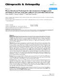 "Báo cáo y học: ""Neuro Emotional Technique for the treatment of trigger point sensitivity in chronic neck pain sufferers: A controlled clinical trial"""