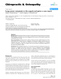 "Báo cáo y học: ""Lung cancer metastasis to the scapula and spine: a case report"""
