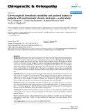 "Báo cáo y học: "" Cervicocephalic kinesthetic sensibility and postural balance in patients with nontraumatic chronic neck pain – a pilot study"""