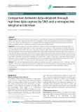 "Báo cáo y học: ""Comparison between data obtained through real-time data capture by SMS and a retrospective telephone interview"""