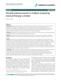 "Báo cáo y học: ""Possible adverse events in children treated by manual therapy: a review"""