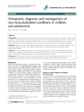 """Báo cáo y học: """"hiropractic diagnosis and management of non-musculoskeletal conditions in children and adolescents"""""""