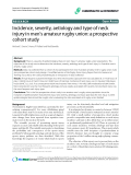 "Báo cáo y học: ""Incidence, severity, aetiology and type of neck injury in men's amateur rugby union: a prospective cohort study"""