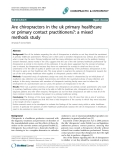 "Báo cáo y học: ""Are chiropractors in the uk primary healthcare or primary contact practitioners?: a mixed methods study"""