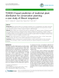 "Báo cáo y học: ""TCMGIS-II based prediction of medicinal plant distribution for conservation planning: a case study of Rheum tanguticum"""