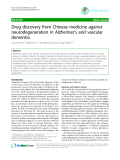 "Báo cáo y học: ""rug discovery from Chinese medicine against neurodegeneration in Alzheimer's and vascular dementia"""