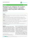 "Báo cáo y học: ""Misdiagnosis and undiagnosis due to pattern similarity in Chinese medicine: a stochastic simulation study using pattern differentiation algorithm"""