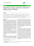 """Báo cáo y học: """"Bioactivities of major constituents isolated from Angelica sinensis (Danggui)"""""""