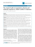 """Báo cáo y học: """"The mental health of populations directly and indirectly exposed to violent conflict in Indonesia"""""""