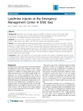 "Báo cáo y học: "" Landmine injuries at the Emergency Management Center in Erbil, Iraq"""