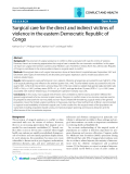 """Báo cáo y học: """"Surgical care for the direct and indirect victims of violence in the eastern Democratic Republic of Congo"""""""
