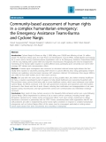 "Báo cáo y học: ""Community-based assessment of human rights in a complex humanitarian emergency: the Emergency Assistance Teams-Burma and Cyclone Nargis"""