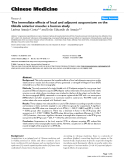 "Báo cáo y học: ""The immediate effects of local and adjacent acupuncture on the tibialis anterior muscle: a human study'"