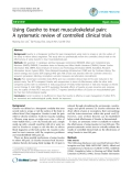 "Báo cáo y học: "" Using Guasha to treat musculoskeletal pain: A systematic review of controlled clinical trials"""