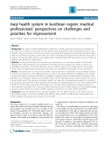 "Báo cáo y học: ""Iraqi health system in kurdistan region: medical professionals' perspectives on challenges and priorities for improvement"""