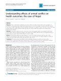 "Báo cáo y học: "" Understanding effects of armed conflict on health outcomes: the case of Nepal"""