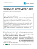 "Báo cáo y học: "" Identifying priority healthcare trainings in frozen conflict situations: The case of Nagorno Karabagh"""