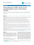 "Báo cáo y học: ""Family planning in conflict: results of crosssectional baseline surveys in three African countries"""