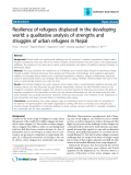 "Báo cáo y học: ""Resilience of refugees displaced in the developing world: a qualitative analysis of strengths and struggles of urban refugees in Nepal"""