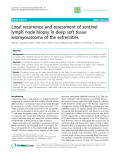 "Báo cáo y học: ""Local recurrence and assessment of sentinel lymph node biopsy in deep soft tissue leiomyosarcoma of the extremities"""