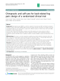"Báo cáo y học: ""Chiropractic and self-care for back-related leg pain: design of a randomized clinical trial"""