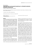"""Báo cáo y học: """"Hyperglycemia and acquired weakness in critically ill patients: potential mechanisms"""""""