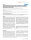 """Báo cáo y học: """" Using an expiratory resistor, arterial pulse pressure variations predict fluid responsiveness during spontaneous breathing: an experimental porcine study"""""""