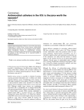 "Báo cáo y học: ""Antimicrobial catheters in the ICU: is the juice worth the squeeze"""