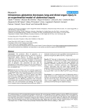 """Báo cáo y học: """" Intravenous glutamine decreases lung and distal organ injury in an experimental model of abdominal sepsis"""""""